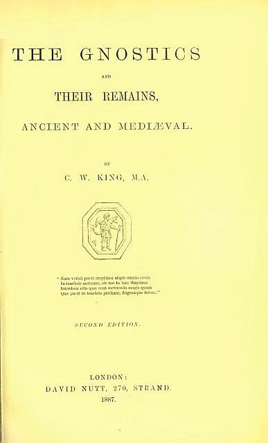 Charles William King, The Gnostics and their remains, ancient and mediaeval, 1887.