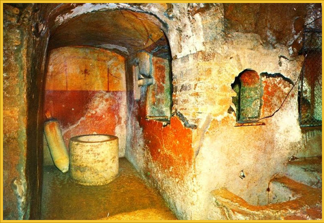 · Arte Paleocristiano · Paleochristian art · Catacumbas de Domotila · Catacombs of Domitilla ·