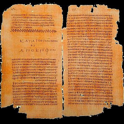 · El Evangelio copto de Tomás · Apócrifo de Juan · Codex II de los Manuscritos de Nag Hammadi ·