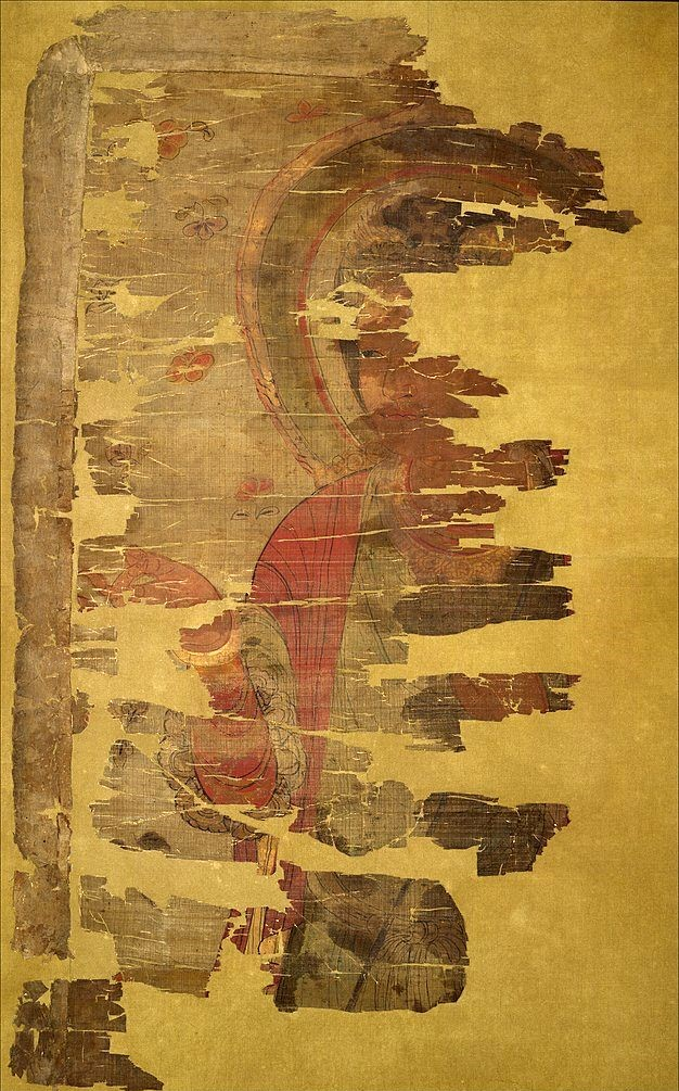 · Cristianismo Primitivo en China · Banderola de seda encontrada en las Cuevas de Dunhuang · Dinastía Tang, s. IX d. JC. · Early Christianity in China ·