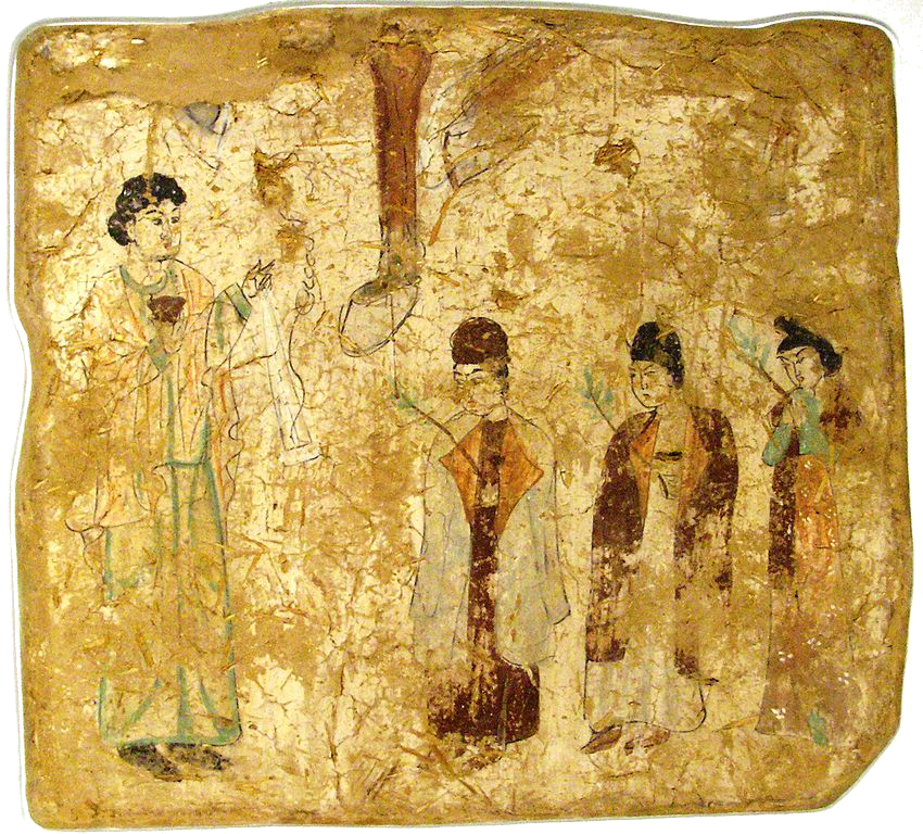 · Cristianismo Primitivo en China · Early Christianity in China · Pintura mural nestoriana de Kocho, Gaochang, desierto de Turfán · s. IX d. JC.